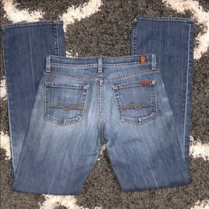 7FAM Distressed Rip Jeans